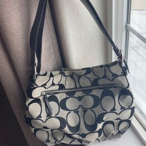Coach Signature Gray Shoulder Bag